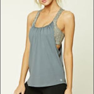 Two in one sports bra and activewear top